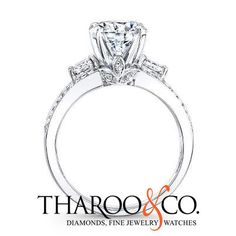 A high head, large side stones and a delicate leaf design on the profile make NK25696-W a favorite. How many Likes?