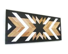 Reclaimed Wood Wall Art Geometric Wood Art Western Wall Art