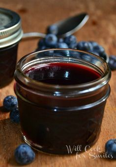 Homemade Blueberry Syrup—simple, sweet, and especially tasty with Nilla Wafers! With blueberries, sugar, lemon juice and brown sugar - this is sure to be a hit!