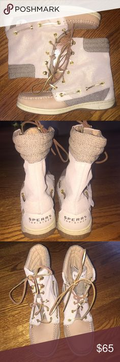Sperry Top-Sider high tops...Size 7 Gorgeous, never worn, Sperry Top-Sider high tops...size 7 in excellent condition from a smoke free home! Sperry Top-Sider Shoes