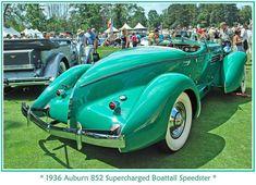 1936 Auburn Supercharged Boattail Speedster. @designerwallace