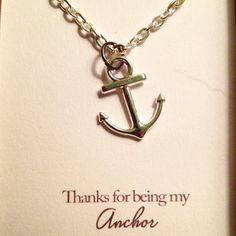 Anchor gift necklace phrase necklace mothers by RedLanternDesigns
