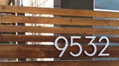 Great source for #MidCentury modern house numbers.   |  modernhousenumbers.com
