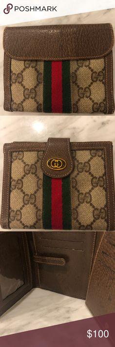 b7a88c27b30 Gucci vintage trifold women s wallet Gucci vintage trifold women s wallet. Good  condition. Gucci Bags
