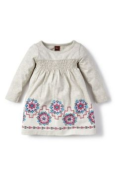 Tea Collection 'Moon Valley' Graphic Long Sleeve Dress (Baby Girls) available at #Nordstrom