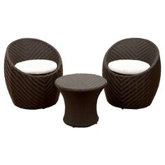 Christopher Knight Home La Jolla 3-piece Wicker Patio Chat Set, Brown