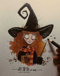 Harry potter art, tim burton style drawing