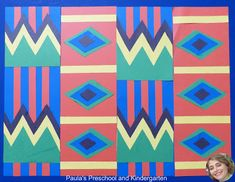 Paula's Preschool and Kindergarten: Kente Colors, art and math learning, perfect for Black History Month