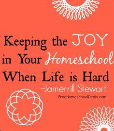 When life seems to be chugging at you, full-steam ahead, here are 6 ways to keep the joy in your homeschool when the rest of life seems hard: