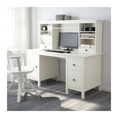 ХЕМНЭС Стол с дополнительным модулем - белая морилка - IKEA