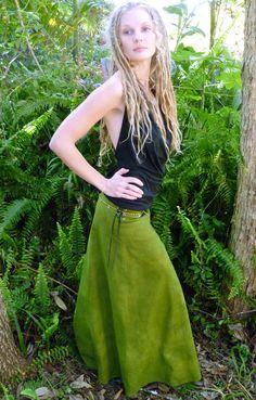 Forest Dweller Hemp Organic Cotton Lace Up Skirt. $145.00, via Etsy.