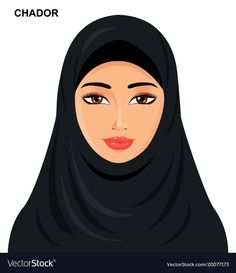 Illustration about Vector - chador headgear style, beautiful arabic muslim woman - Illustration isolated eps Illustration of face, icon, cartoon - 106204293 Emoji, Hijab Drawing, Hijab Cartoon, Illustrator Tutorials, Adobe Illustrator, Woman Sketch, Beautiful Muslim Women, Borders For Paper, Woman Illustration
