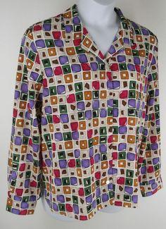 Alfred Dunner Career Blouse Size 18 Lightweight Crinkle Square Graphic Shirt Top #AlfredDunner #Blouse #Career Alfred Dunner, Graphic Shirts, Crinkles, Shirt Dress, Blouse, Career, Long Sleeve, Mens Tops, Shopping