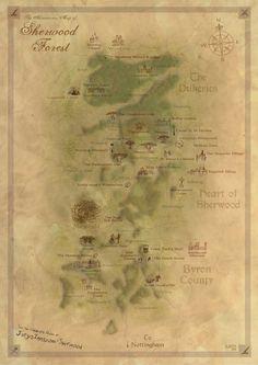 Nottingham Sherwood Forest Adventurers Map