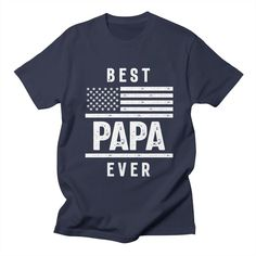 Funny Dad Shirts, Father's Day T Shirts, Dad To Be Shirts, Tee Shirts, Papa Roach, Memorial Day, Papa T Shirt, Usa Shirt, Funny Fathers Day
