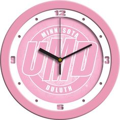 Ladies Minnesota Duluth Bulldogs - Pink Wall Clock