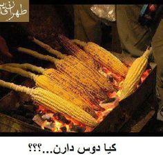 Roasted corn, a favorite Persian street food