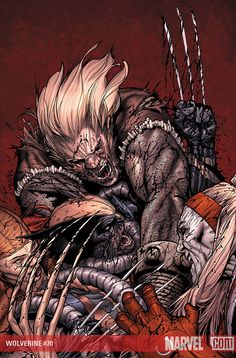 Wolverine vs Omega Red ,Sabretooth and Lady Deathstrike by Steve Mcniven