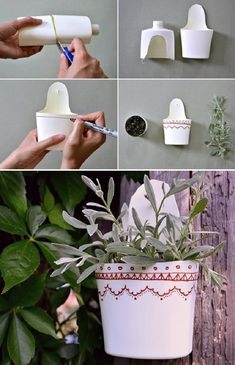 Making a planter from a book is rather simple, and it takes roughly one hour or two. Then you've got your planters! DIY drip planters are a rather great idea if you're a free spirit who loves color. Plastic Bottle Crafts, Recycle Plastic Bottles, Recycled Crafts, Diy And Crafts, Garden Projects, Craft Projects, Craft Ideas, Diy Recycle, Reuse