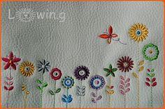 Stickerei für eine Tasche ... Embroidery for a small bag