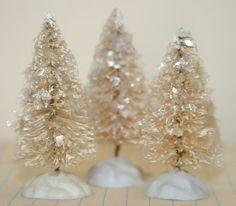 Lovely vintage-inspired Christmas trees by Luckygirlgoods on Etsy - http://www.luckygirlgifts.etsy.com