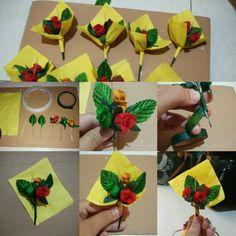 Mini Flower Bouquet #DIY #ValentinesDay