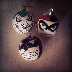 Batman, Harley Quinn and Joker Christmas Ornaments | Superhero and ...