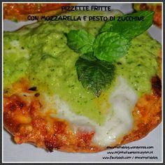 Pizzette fritte con mozzarella e pesto di zucchine  enzamariablog.wordpress.com