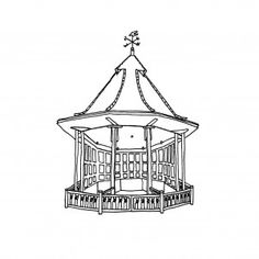 Horniman Bandstand with writting Cool Artwork, A3, Chandelier, Museum, Ceiling Lights, Lighting, Pendant, Prints, Inspiration