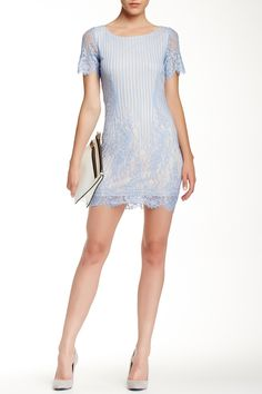 Striped Lace Dress by Dress Forum on @HauteLook
