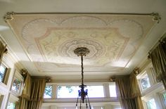 Classic Murals - Ceiling decorations - Trompe L'oeil Murals - would look great in my master!!