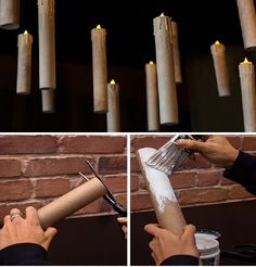 Terroríficas velas colgantes para noche de brujas