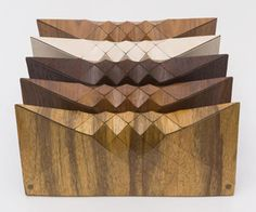 Israeli Creation. Tesler+ Mendelovitc's clutches are all about wooden textiles! Designed by Orli Tesler and Itamar Mendelovitch.