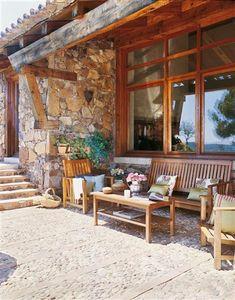 Materiales naturales para un jardín rústico · ElMueble.com · Casa sana