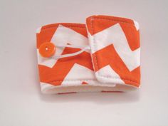 Orange Chevron Coffee Sleeve Coffee Cozy for by bamcraftymommas