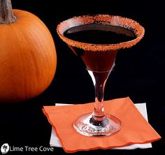 The Black Hallow-Tini (Martini)