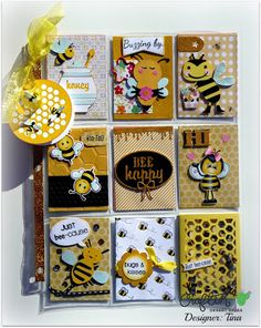 The Scrappin Rabbit: Bumble Bee Pocket Letter Paper Pocket, Pocket Cards, Pen Pal Letters, Pocket Letters, Project Life, Snail Mail Pen Pals, Pocket Pal, Art Trading Cards, Atc Cards