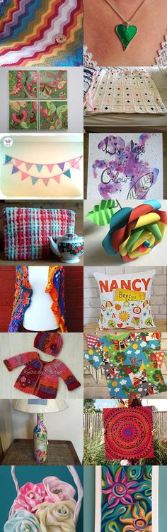 A whole lot of colour! by Rainbow Lux Glass on Etsy--Pinned+with+TreasuryPin.com