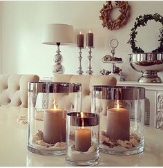 Love these candle displays !!