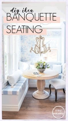 IKEA Hack Banquette Seating - at home with Ashley Wooden Kitchen, Kitchen Decor, Emma's Kitchen, Kitchen Ideas, Kitchen Stuff, Kitchen Design, L Shaped Bench, Baseboard Trim, Banquette Seating