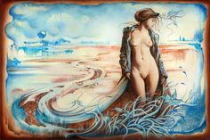"""""""The Last Walk of Autumn""""  … woman created by the earth, water and sky..."""