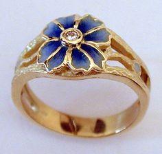 Masriera Diamond Flower Ring