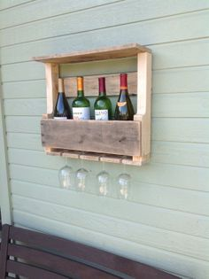 Free Shipping - Reclaimed Wood Wine Rack