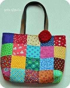 bolsa ♥ quadradinhos ♥