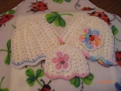 Preemie Hat Project~Several patterns for preemie baby hats and other items as well.