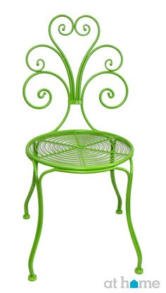 Lime greens are very in this season, and you just can't beat this colored, steel patio chair for only $49.99!