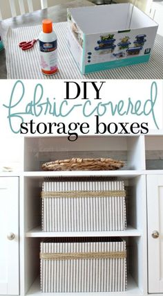 With a few supplies, you can easily upcycle cardboard boxes and make beautiful custom storage and organizing boxes for your home.