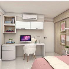 Lindo quarto de menina nas cores branco e rosa