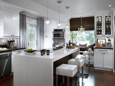 cocina-blanca-moderna  Interior design / diseño de interiores / Candice Olson