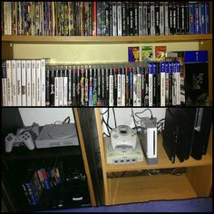 Don't miss this one by l.oliveira83 #dreamcast #microhobbit (o) http://ift.tt/1Tfl91i out of space! Need more shelves! This is all my videogame collection so far.  #playstation #playstation2 #playstation3 #playstation4 #megadrive #genesis  #wii #consoles #videogamers #videogamecollector #videogames #videogameaddict #videogaming #videogamecollection #retrogaming #retrogames #retrogamer #retrogamecollector #gamecollecting #gamer #games #gamecollection #instagames